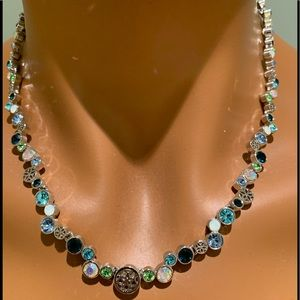 Lia Sophie Blue/Green Crystals Necklace